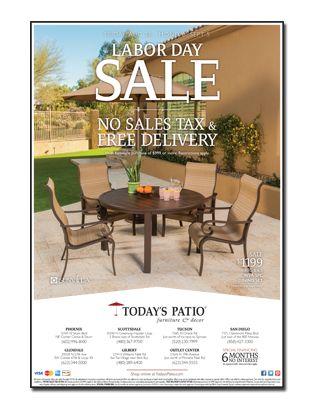 Today S Patio Labor Day Sale Newspaper Ad Patio Patio Furniture