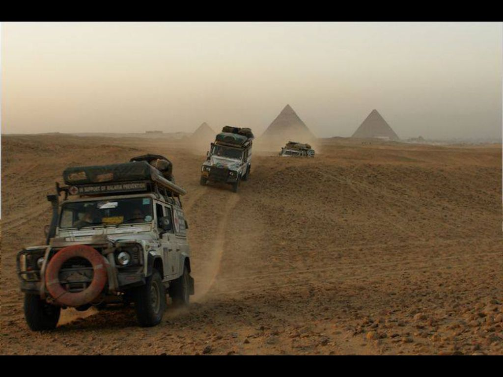Rovers in Action leaving the Great Pyramids in our rear view mirrors. We're coming back every year.