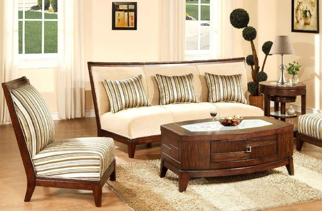 Simple Wooden Sofa Designs For Drawing Room Living Room