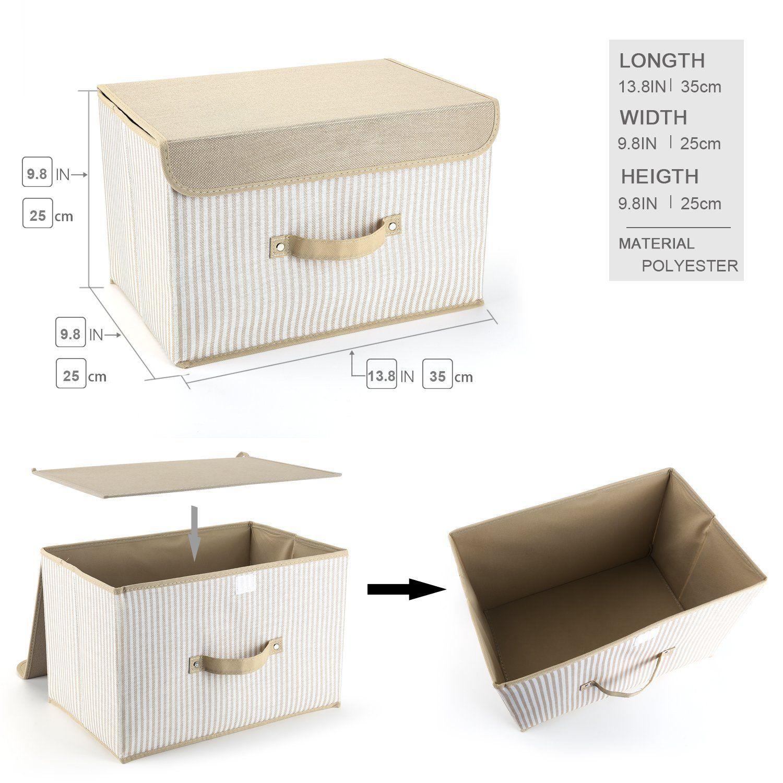 Aufbewahrungsbox Mit Deckel 2er Set Meelife Zusammenklappbare Faltbare Lagerung Bins Box Fur Wasche Und Aufbewahrungsbox Aufbewahrung Sitzbank Mit Aufbewahrung