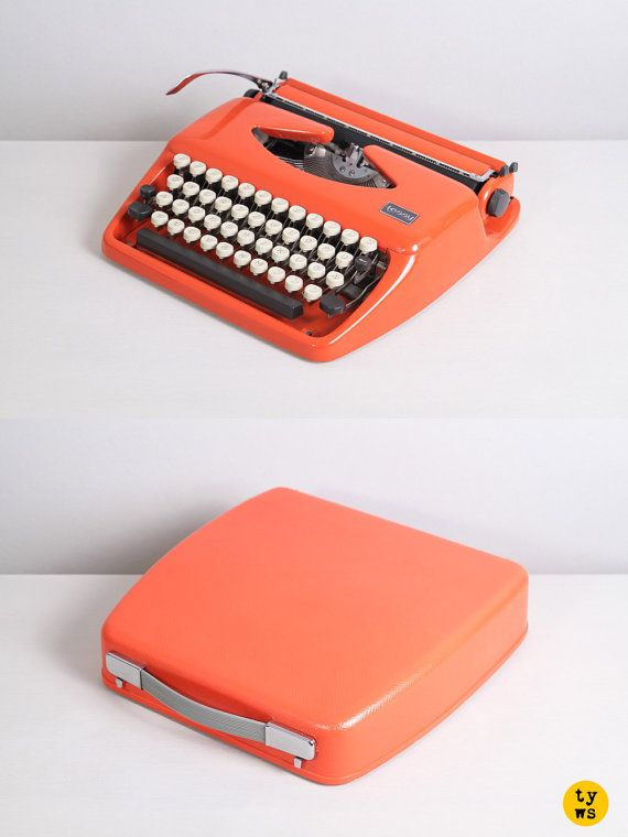 Orange Typewriter #arancione