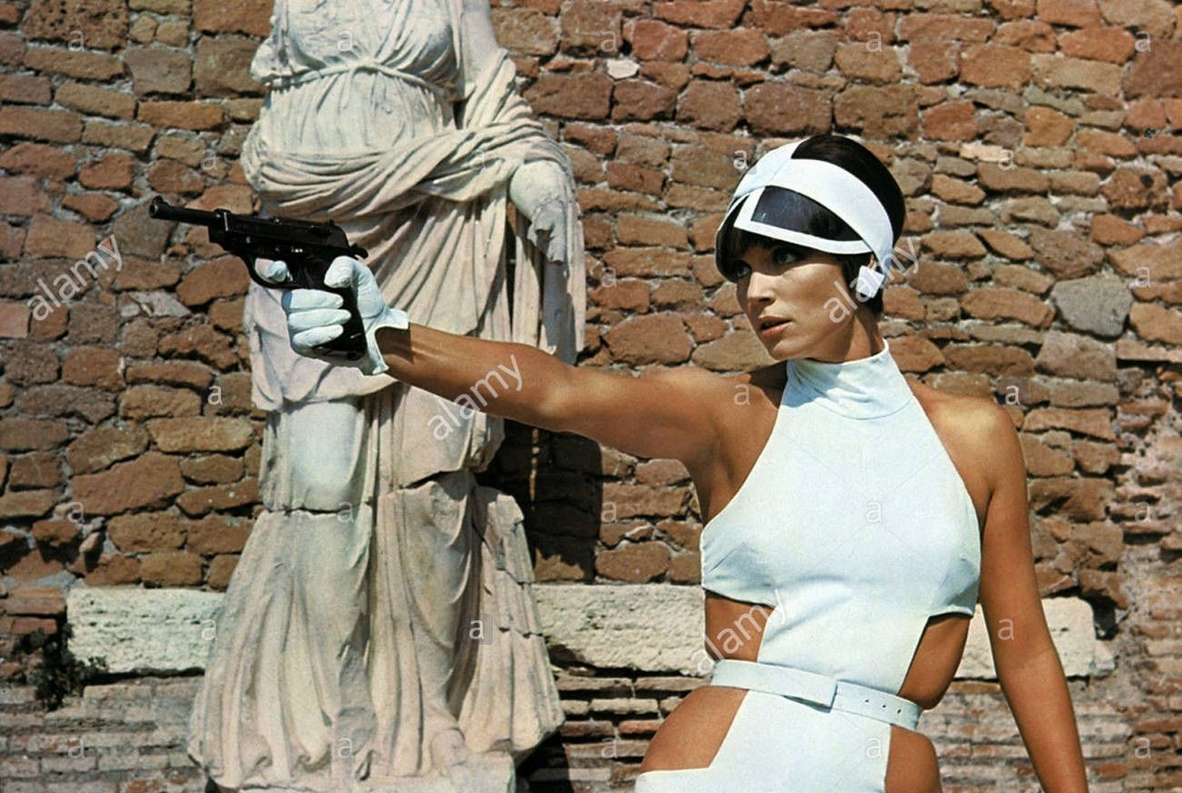 0 ELSA MARTINELLI With A Gun In THE TENTH VICTIM 1965 Walther P38