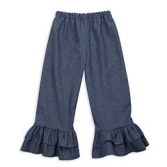 Swoon! Love this Light Denim Double Ruffle Pant I discovered at lollywollydoodle.com and for only $24! Click the image above to get a $5 off coupon code for your next order!