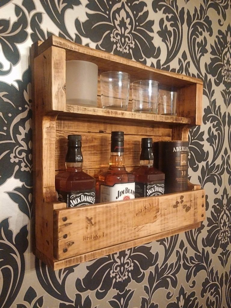 Rustic Whiskey Rack Projects To Try In 2019 Wood Wine