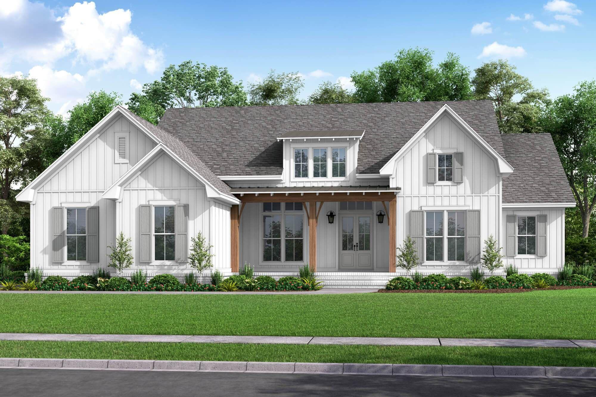 Jackson House Plan In 2020 Modern Farmhouse Plans Farmhouse Style House Plans Farmhouse Plans