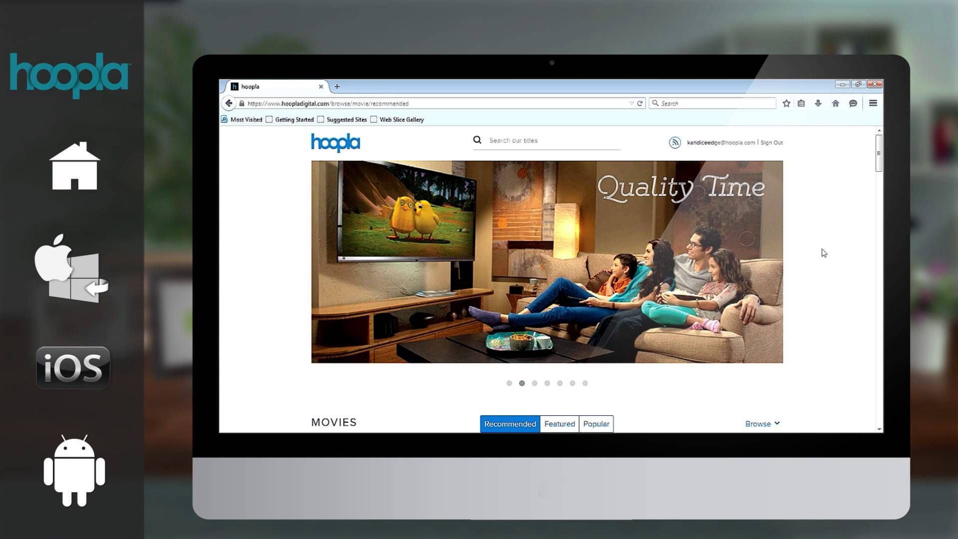 Video tutorial about the Hoopla website, where you can get