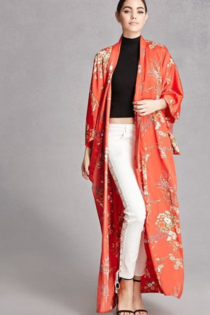 83e2ae4fe4e Repurposed Satin Floral Kimono - Get The Look! Beyonce s Grand  21
