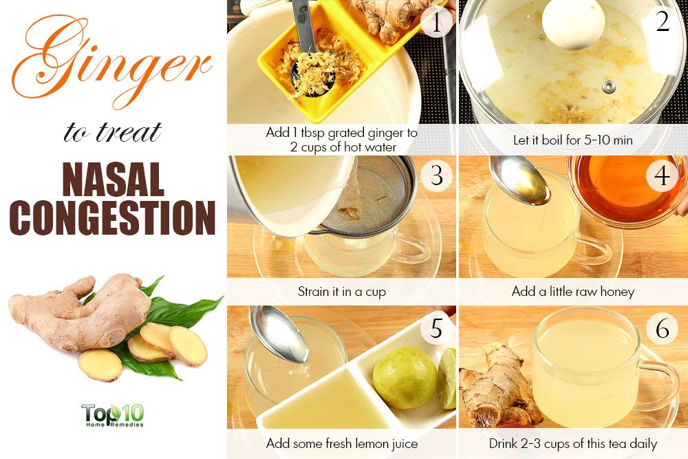 Ginger Tea For Nasal Congestion Nasal Congestion Remedy