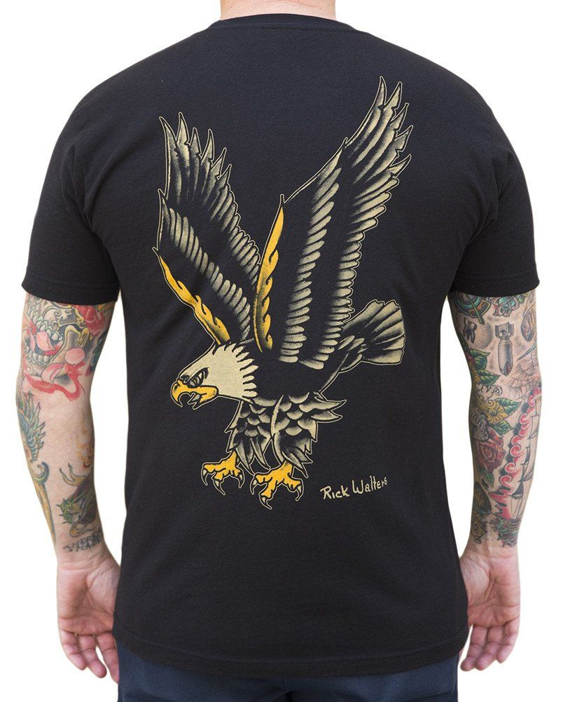 be2ac76b364 Men s Eagle by Rick Walters Long Beach Old School Tattoo T Shirt –  moodswingsonthenet