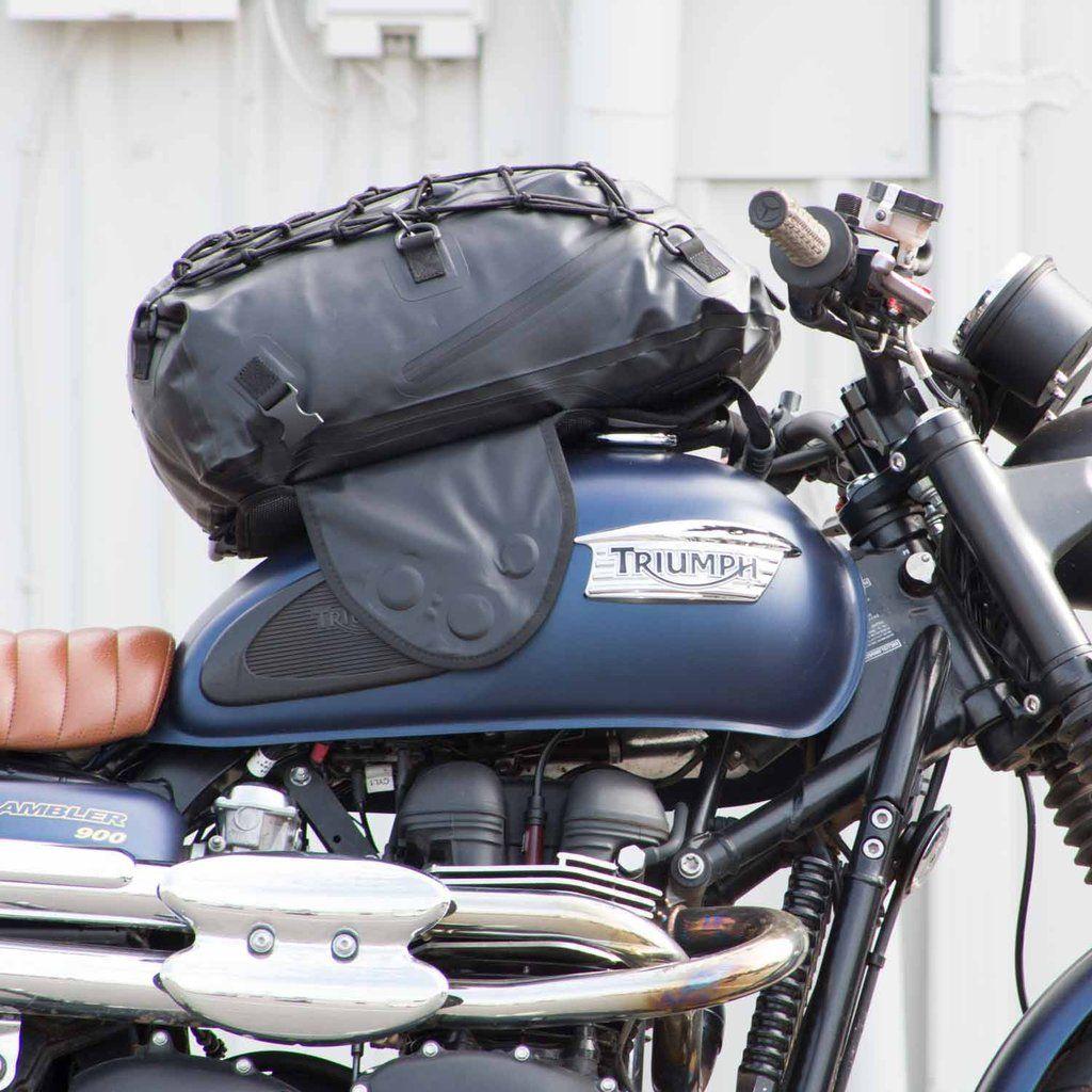Joe Rocket Hammerhead Magnetic Motorcycle Tank Bag Black Carbon Look