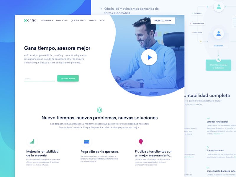 Target Page Design For Invoicing Saas Company Web Design Studio Web Design Firm Page Design