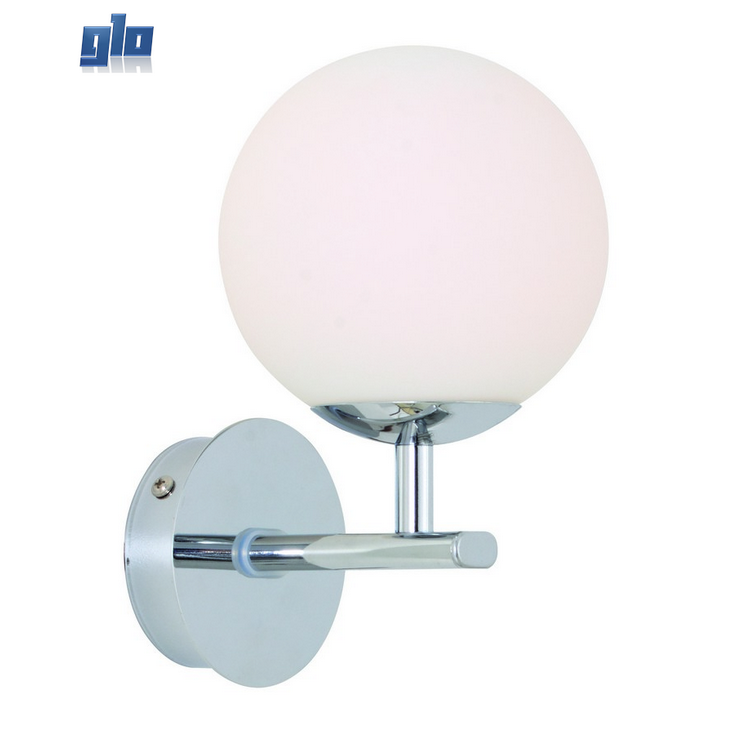 Glo lighting eurolux w346ch palermo sphereical wall light chrome