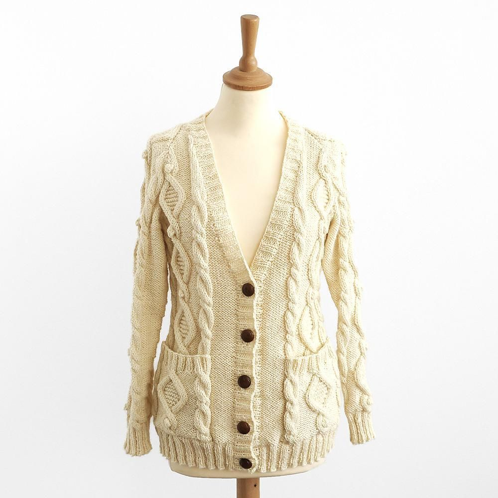 Land Girl: Cable Aran Cardigan | Strickjacke | Pinterest | Land ...
