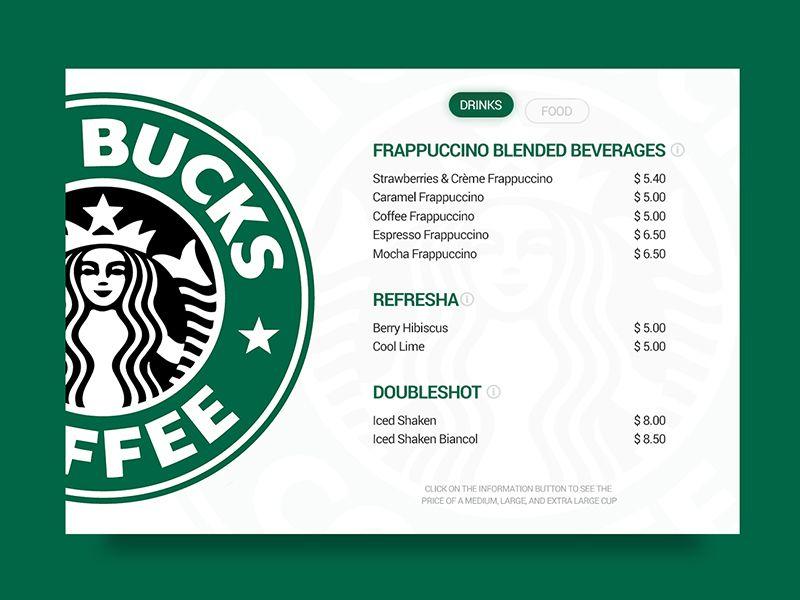 Day 093 Price List Web Design Quotes Price List Design Starbucks Prices