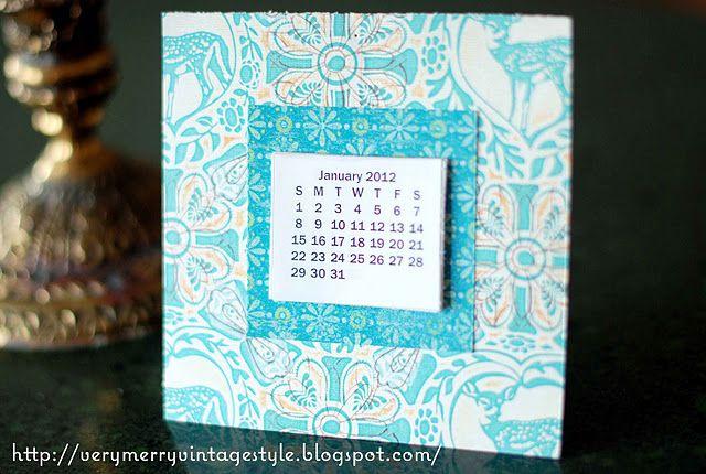 Printable free calendar craft Tutorial to make a tear off miniature