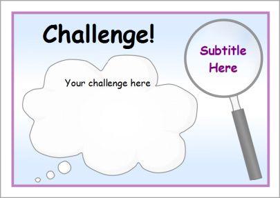 Editable challenge card and poster templates (SB9247) - SparkleBox ...