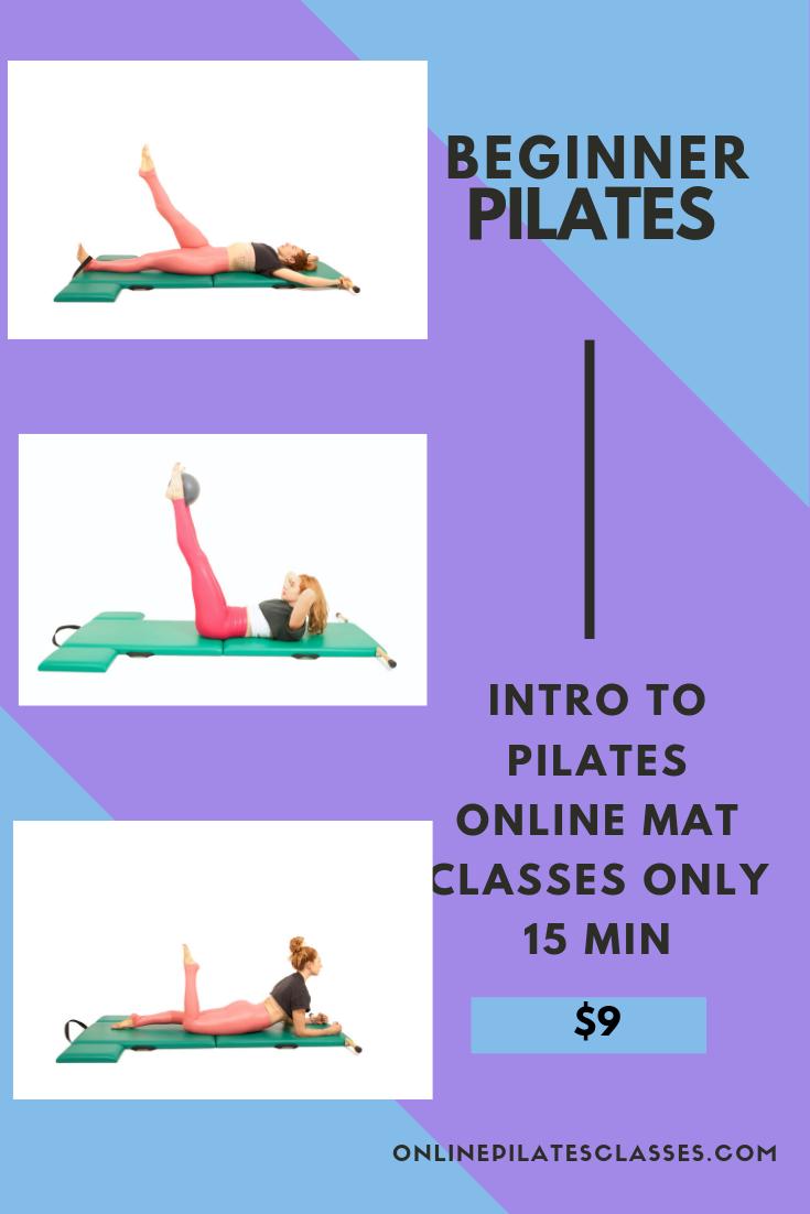3 Beginner Pilates Workouts Online only 15 min each #pilatescourses