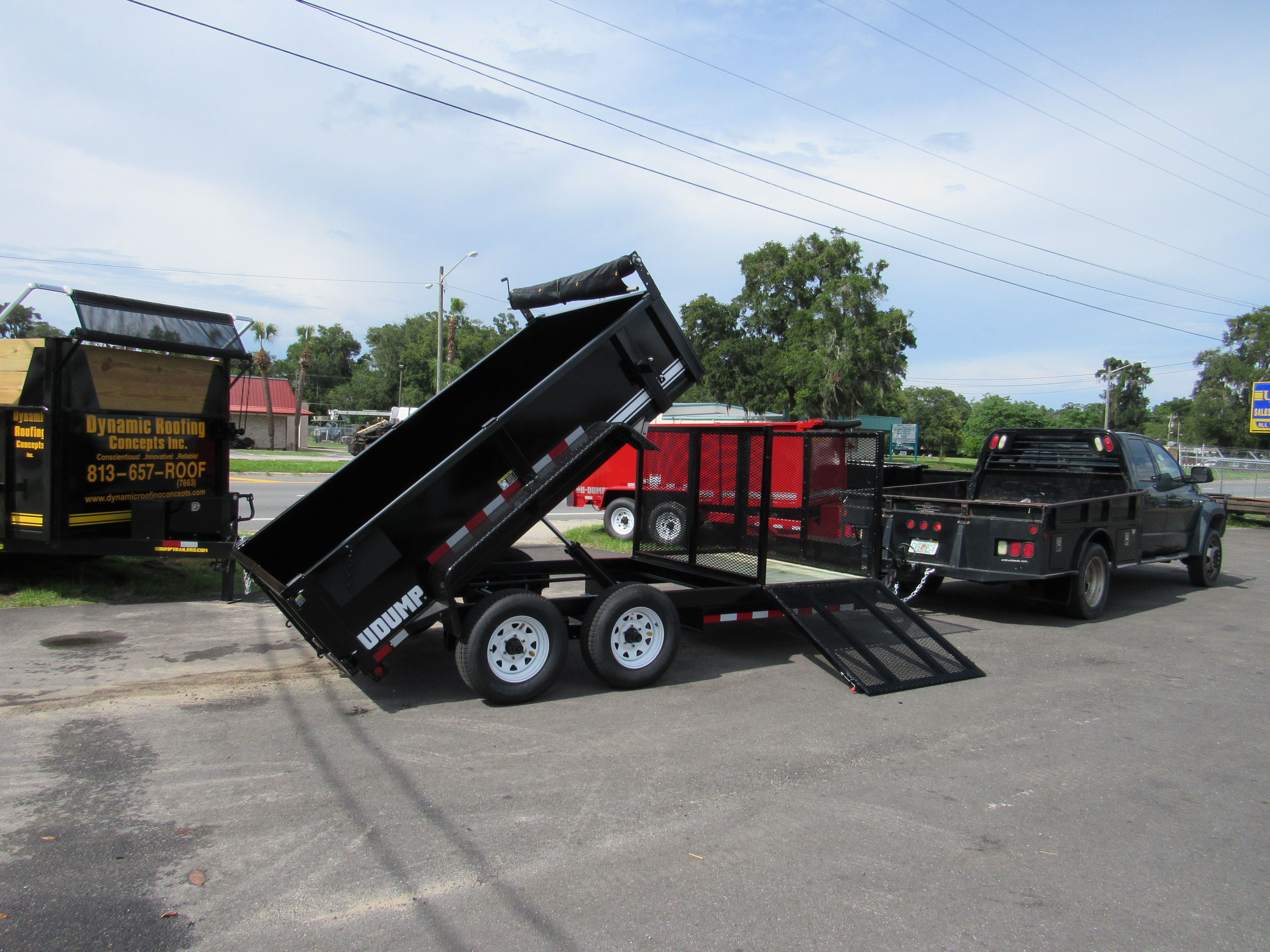 Another U Dump Exclusive Equipment Carrier And Dump Trailer In One Dump Trailers Trailer Accessories Trailer