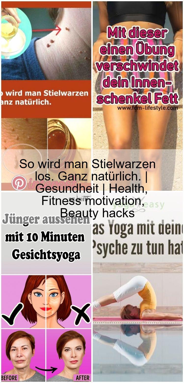 So wird man Stielwarzen los. Ganz natürlich. | Gesundheit | Health, Fitness motivation, Beauty hacks...