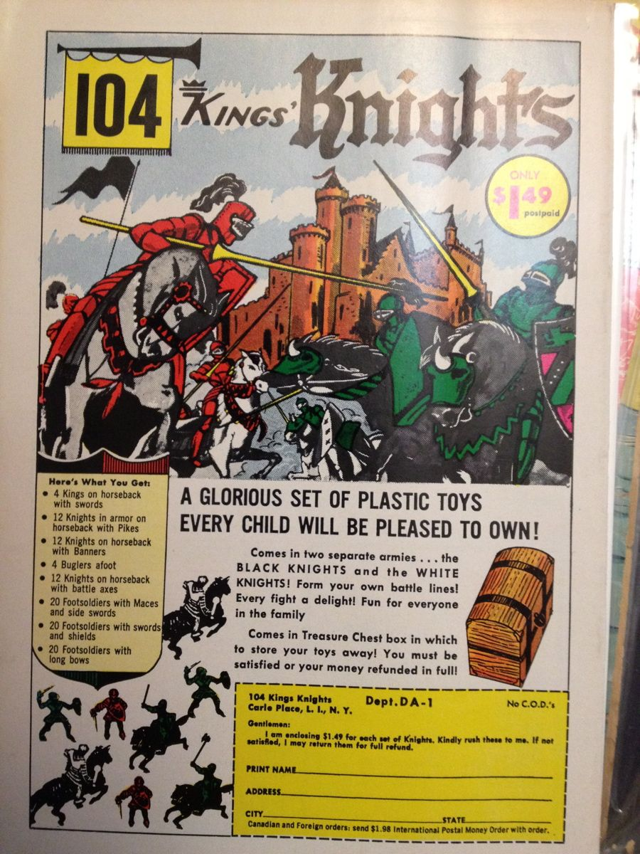 1963 104 Kings/' Knights Toy Soldiers Vintage Look Reproduction Metal Sign
