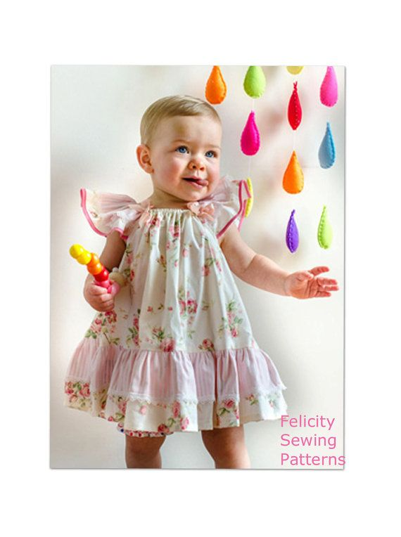 3e3bb7e941aa Baby girls dress sewing pattern