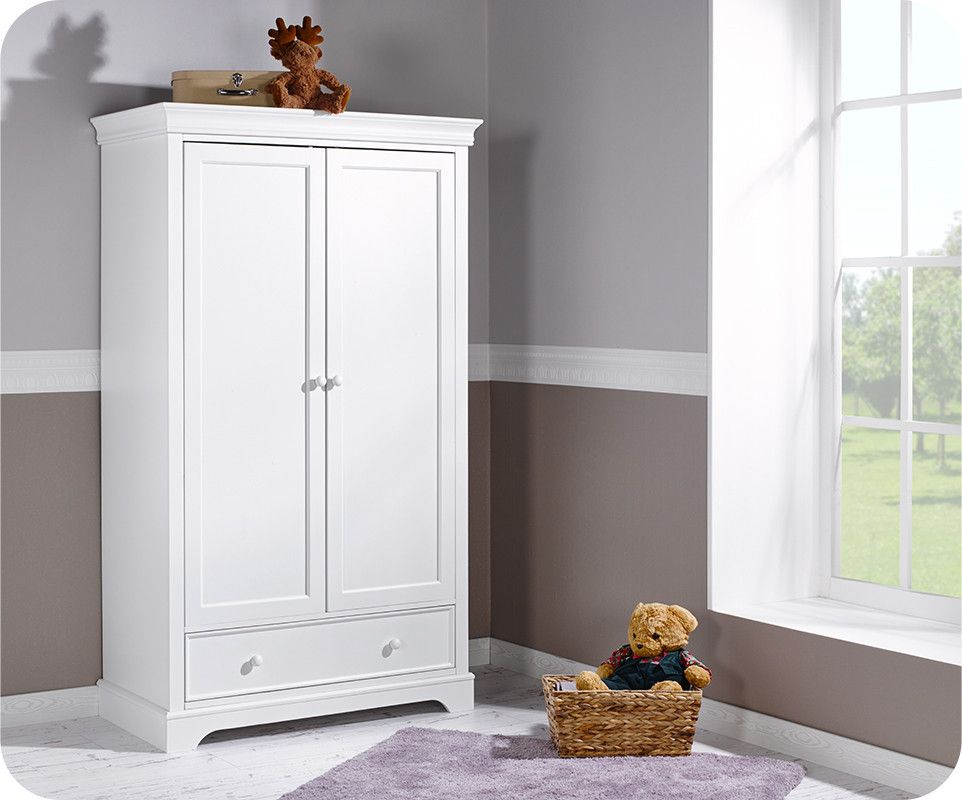 Armoire Bebe Armoire Bb Mel Blanche 2 Portes Achat Mobilier Puriculture Closet In 2019 Tall Cabinet Storage Armoire Furniture