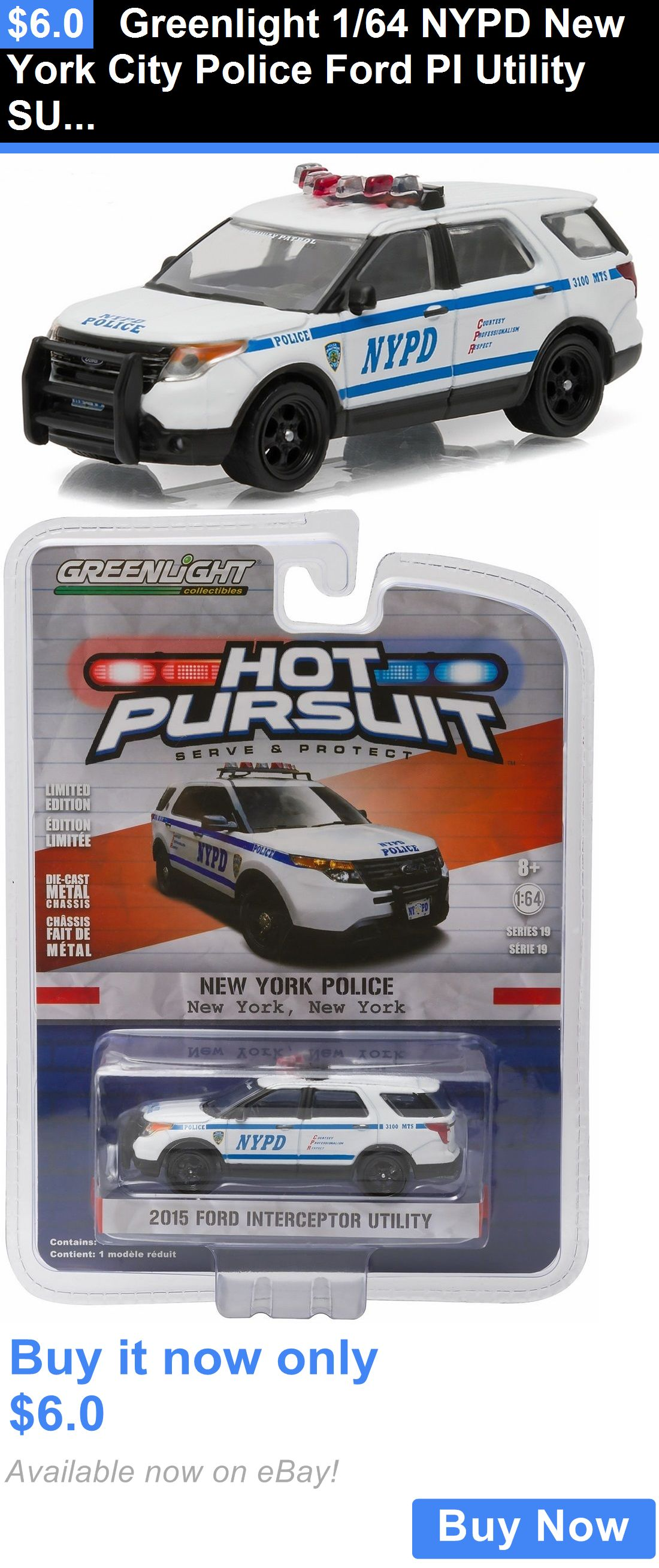 1:64 Greenlight 2016 Ford Police Interceptor Utility NYPD Diecast Car Model