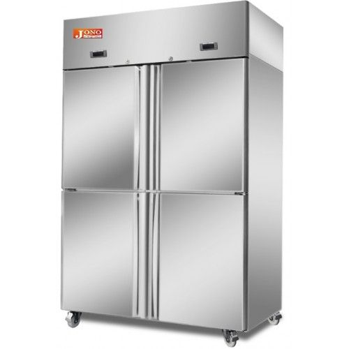 Commercial Dual Temperature Fridge Freezer Four Half Doors Stainless Steel Upright 900 Litre With Images Half Doors Condenser Dryer Commercial Design