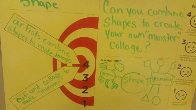Learning Target, Shape Monster Collage...If You're a Monster and You Know It