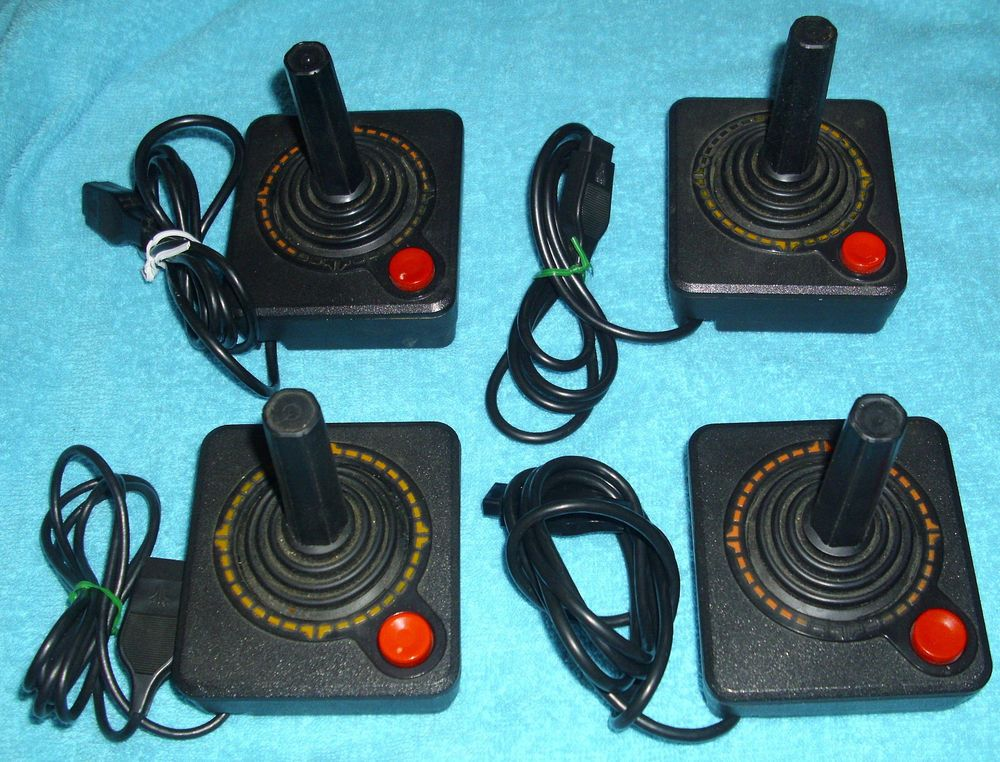 Atari 2600 Heavy Sixer Controller Joystick Lot FOR PARTS REPAIR AS ...