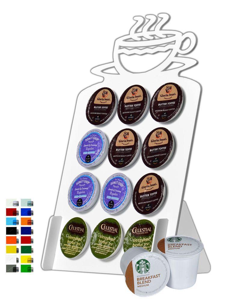 12 Slot Coffee Cup Acrylic Keurig K Cup Coffee Pod Holder