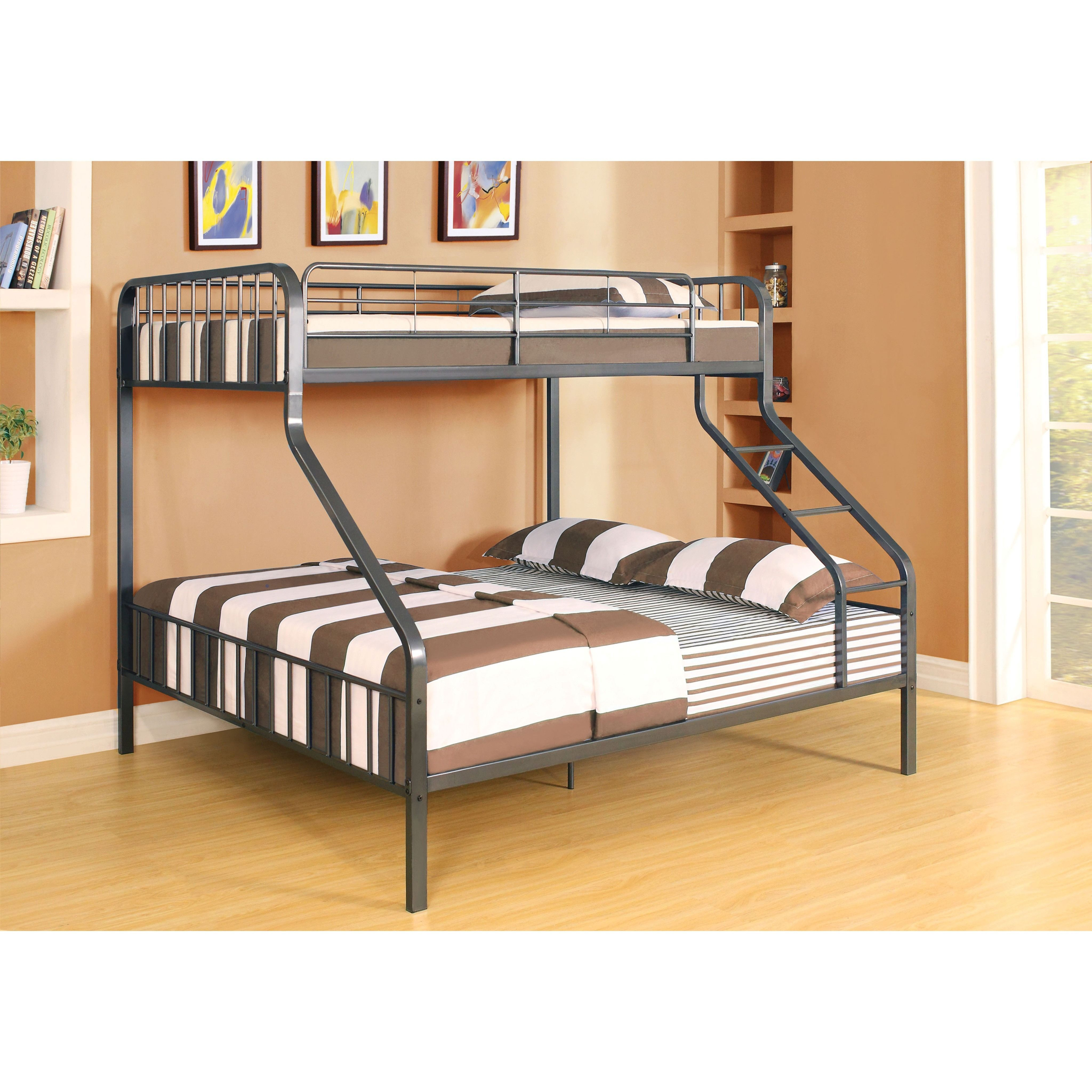 caius gunmetal twin xl over queen bunk bed queen bunk beds twin