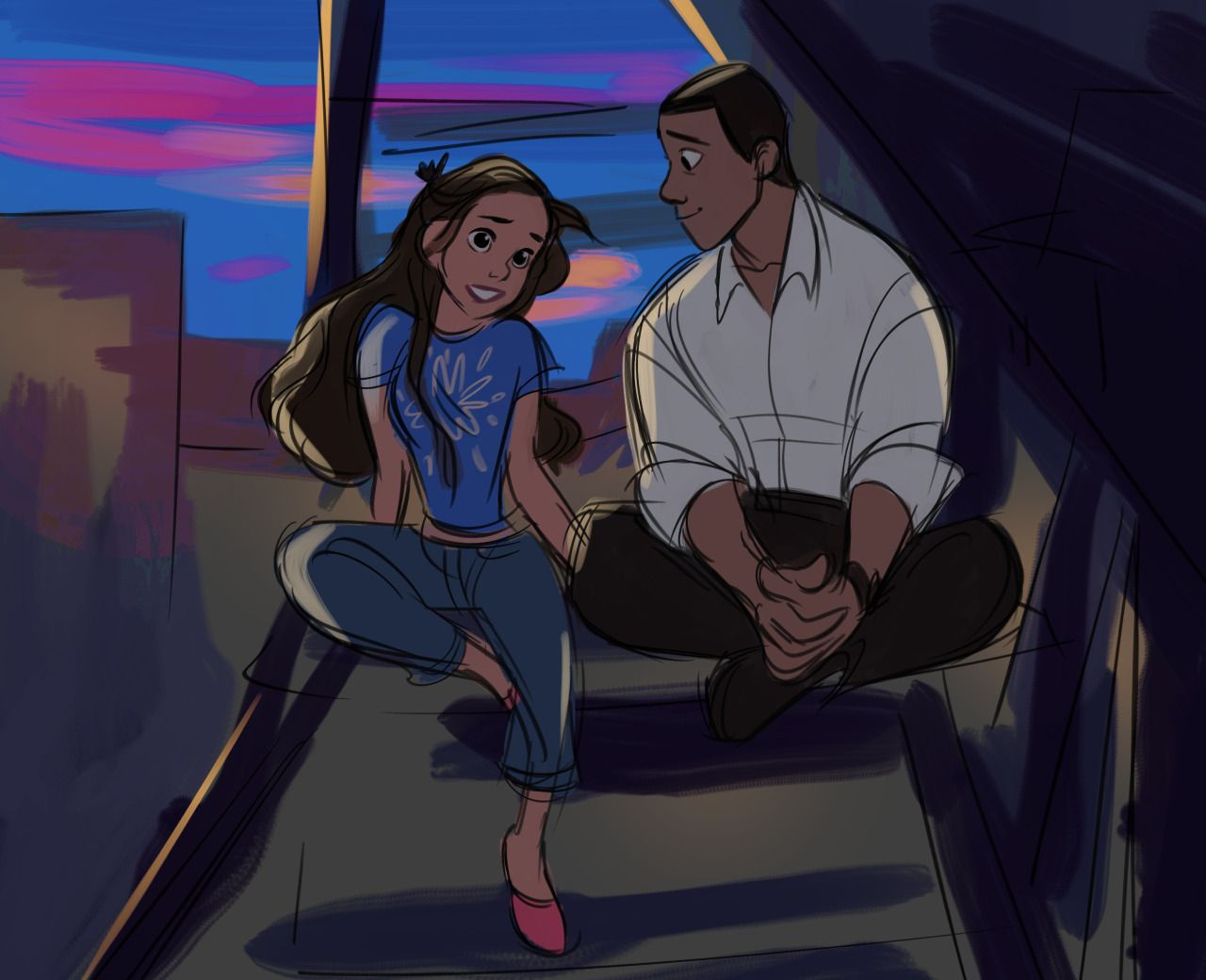 — I used to think we lived at the top of the world (Nina and Benny)