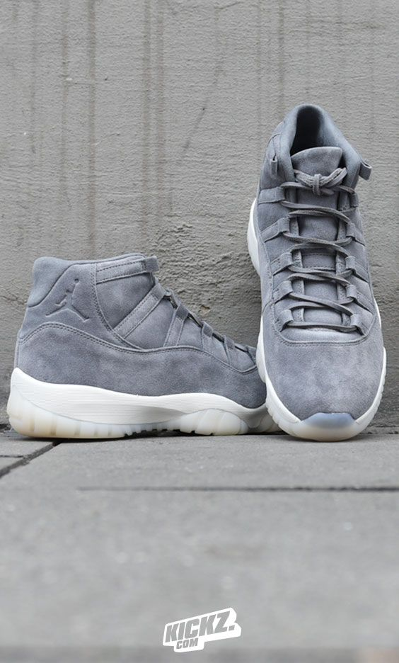 83474e6c579bf9 It ain t just about the XI  Heiress  and the XI  Space Jam  - check the Premium  Jordan XI Retro in a full grey suede upper and an opaque outsole!