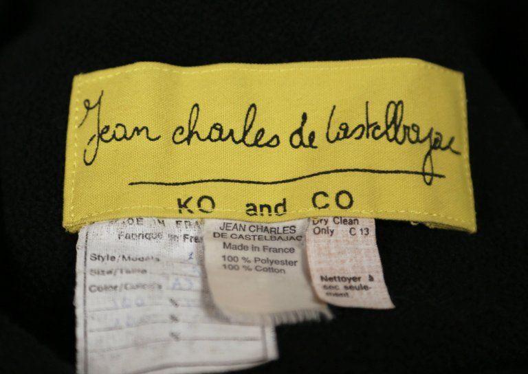 Jean Charles de Castelbajac color-blocked coat with 3-D fish, 1980s  5