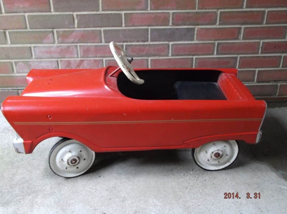 antique vintage kids metal pedal car 1950s