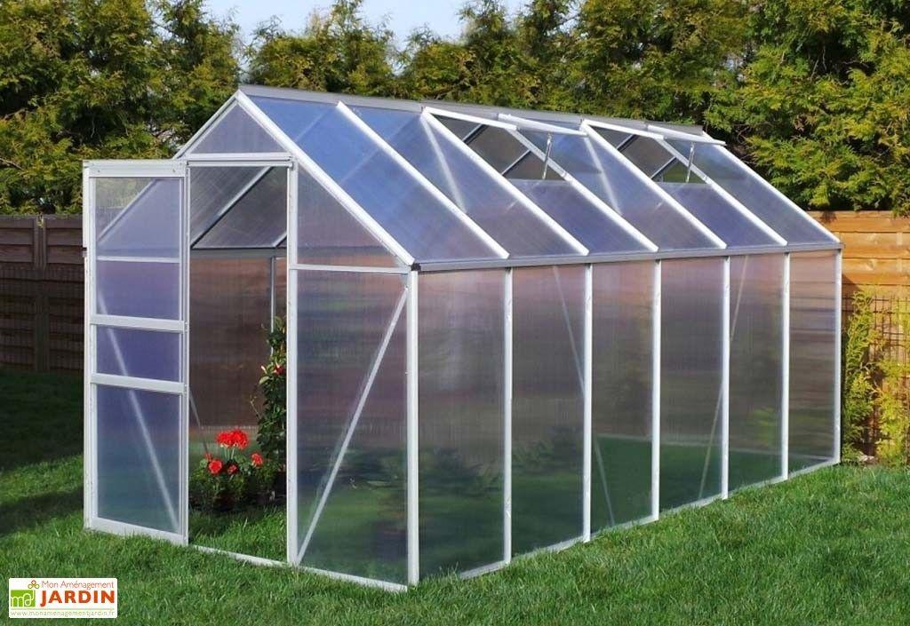 Serre Jardin en Aluminium Polycarbonate 7,03 m²- 190x370 cm | SERRES ...