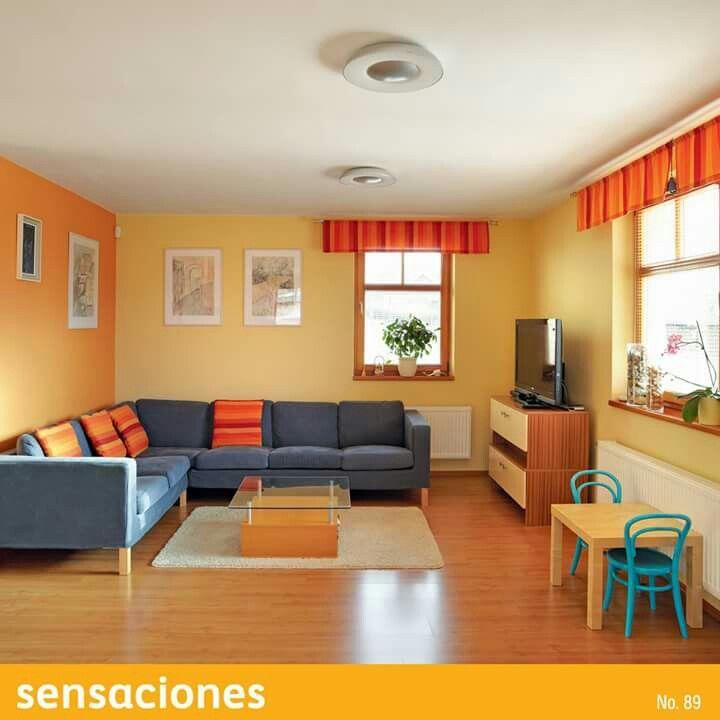 Decoracion De Sala Amarillo Naranja Colores Para Sala Comedor Colores De Casas Interiores Combinaciones De Colores Interiores