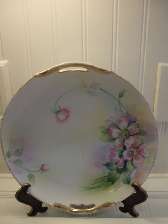 Cake plate vintage Nippon hand painted with by ButterBeanVintage, $20.00