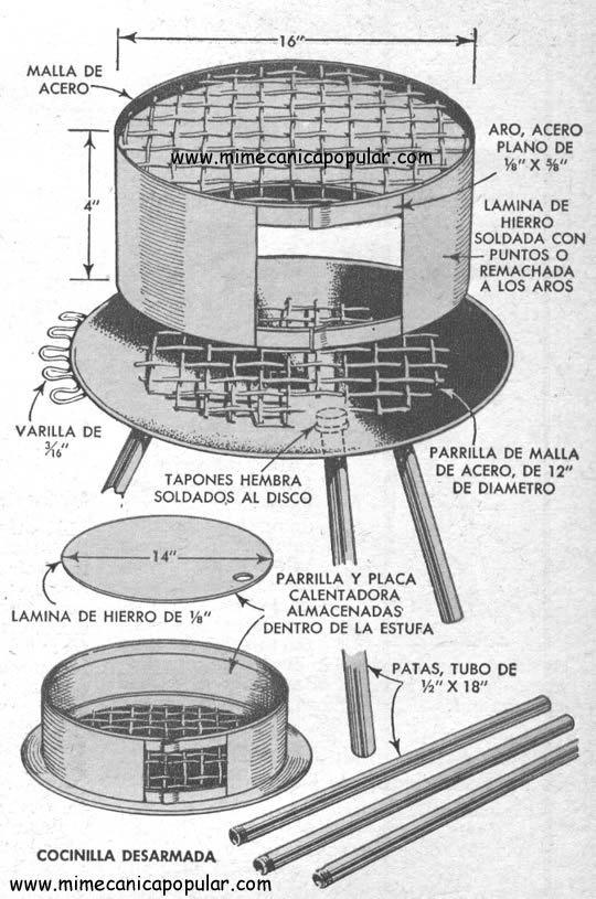 Parrilla Desarmable Agosto 1952 Proyectos Pinterest Asaderos