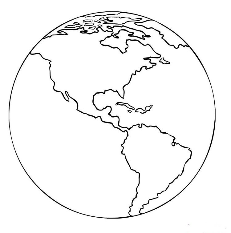 Realistic Earth Coloring Pages Earth Coloring Pages Coloring Pages Earth Drawings