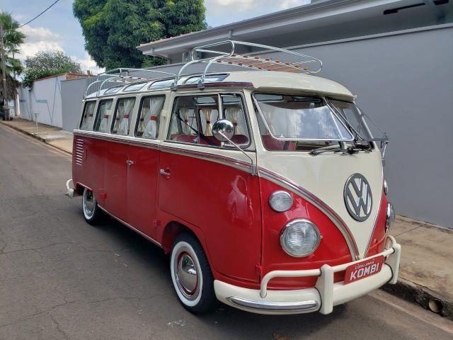 1969 VW Red Volkswagen Bus 23 window Brazilian Samba Conversion