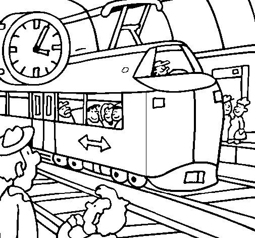Railway Station Coloring Page Train Coloring Pages New Year Coloring Pages Coloring Pages