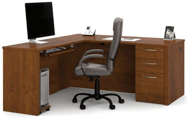 Bestar Embassy Tuscany Brown L Shaped Desk 60873 63 L Shaped