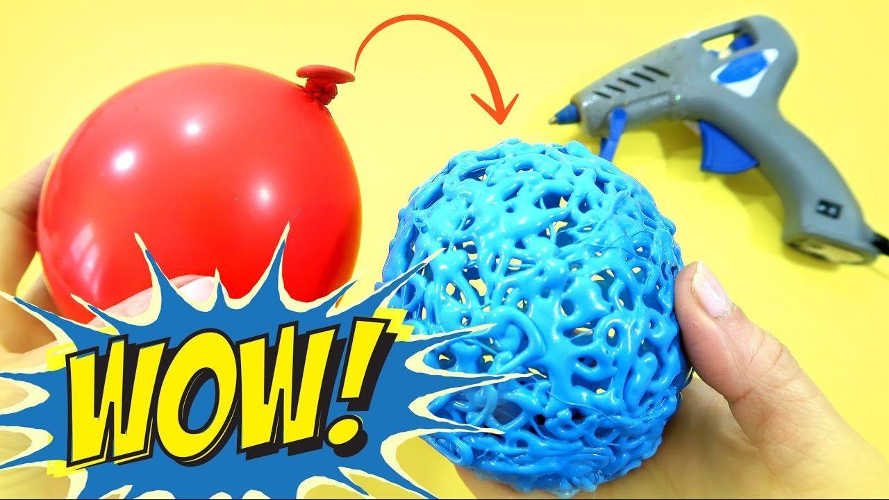 Manualidades f ciles esferas de silicona caliente hechas - Manualidades con globos ...