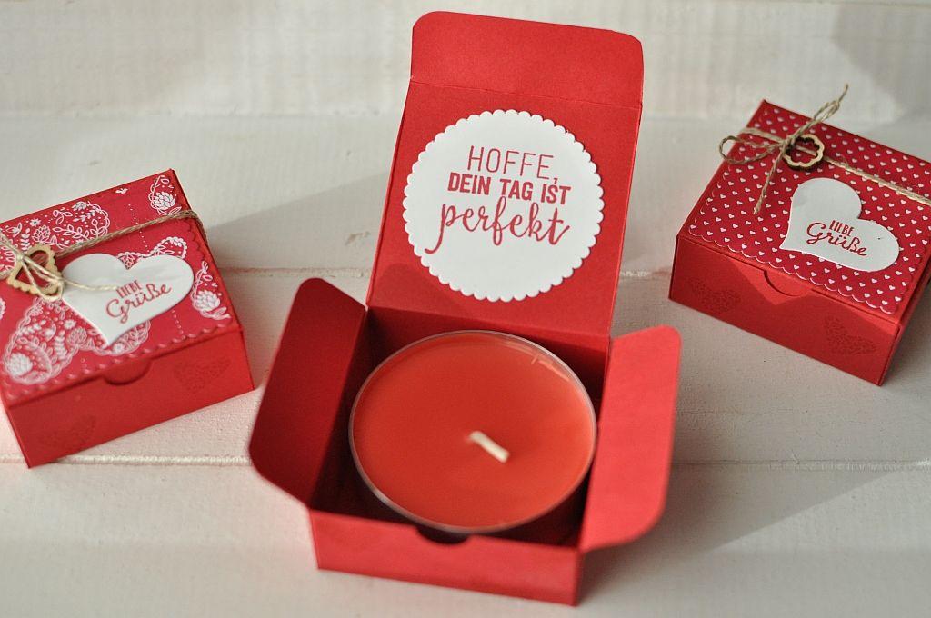 Jumbo-Teelicht-Box in Rot