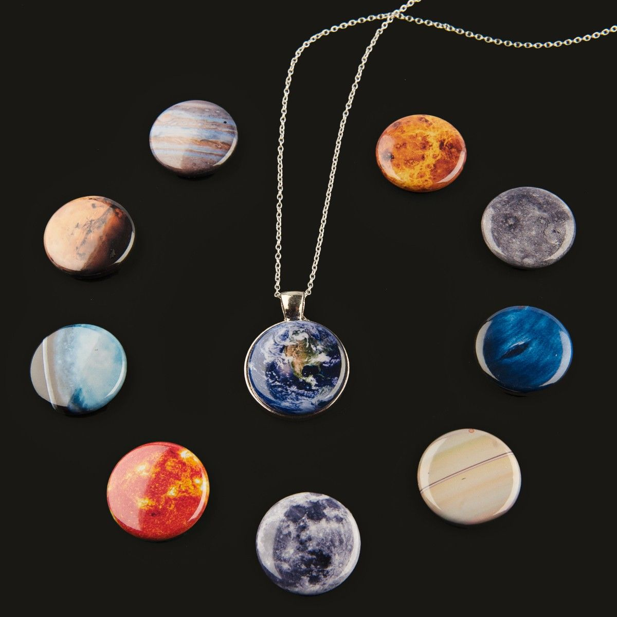 A set of 10 magnetic solar system designs Mercury Venus Earth