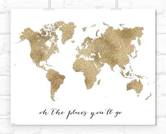 Glitzer Weltkarte
