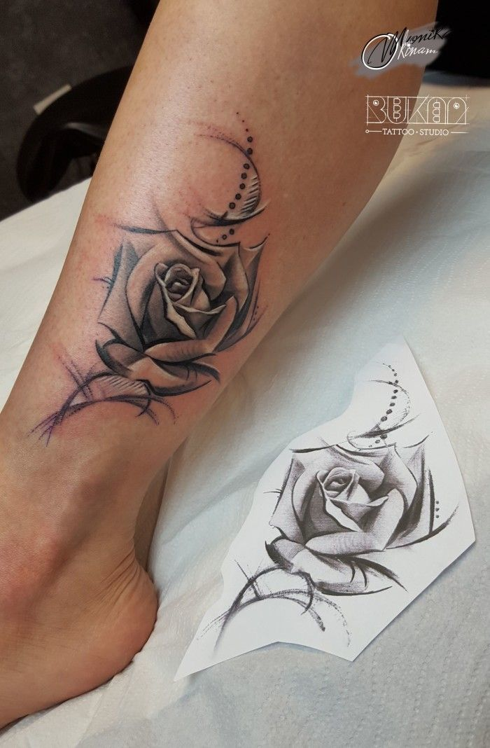 rose tarroo black and white tattoo women tattoo legs legs tatoo moje tattoo pinterest. Black Bedroom Furniture Sets. Home Design Ideas