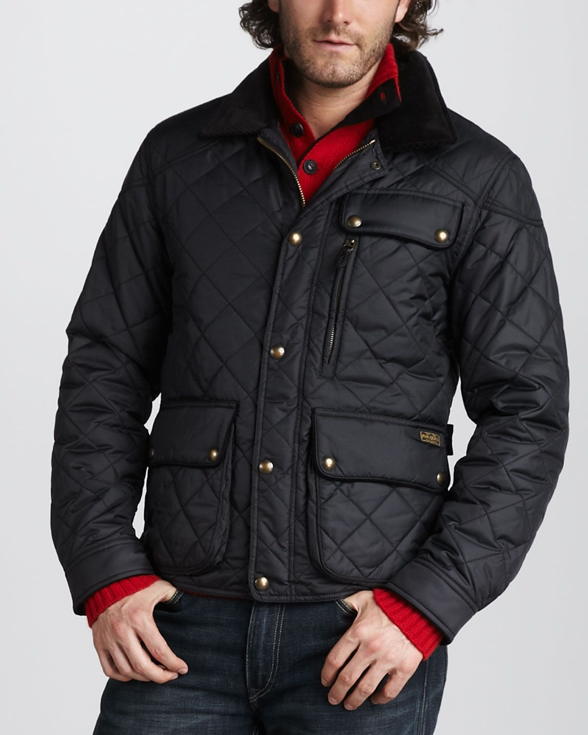 dc686027416c Polo Ralph Lauren Quilted Bomber Jacket in Black for Men (polo black ...